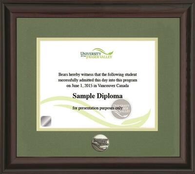 Diploma Frames - University of the Fraser Valley Bookstore